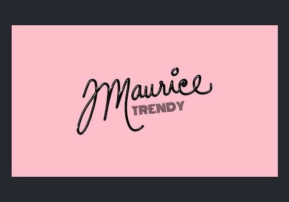 Logo for a JMaurice Trendy, Fashion Designer.