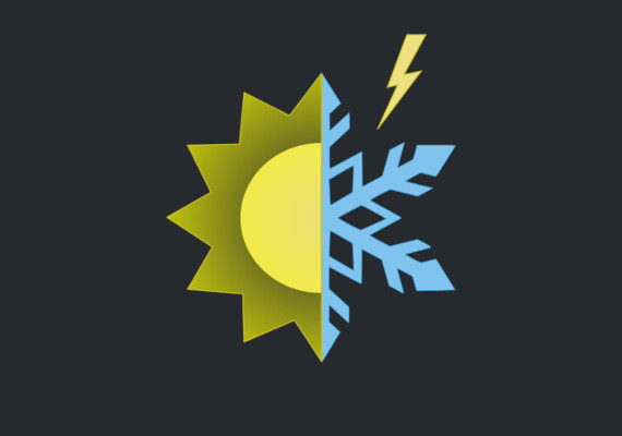 Logo for Tropical Winter a air-conditioning and electrical contractor.