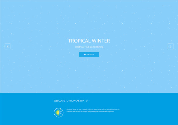 Tropical Winter Web application